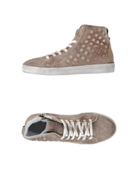 Keep High Top Sneakers Dove Grey