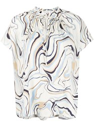 Chinti And Parker All Over Print Blouse Neutrals