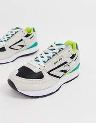 Hi Tec Silver Shadow Trainers In Grey And Green