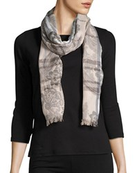 Lord And Taylor Floral Paisley Scarf Camel
