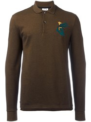 Lacoste Long Sleeve Polo Shirt Brown