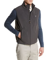Loro Piana Comfort Lightweight Tech Vest Charcoal