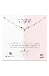 Dogeared Reach For The Stars Y Necklace Silver