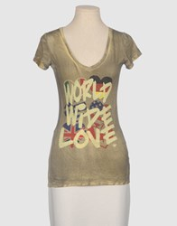 Dirtee Hollywood Topwear Short Sleeve T Shirts Women Grey