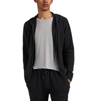Derek Rose Finley Cashmere Hoodie Charcoal