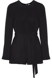 Elizabeth And James Lucille Crepe Playsuit Black