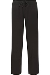 Dkny Stretch Pima Cotton Jersey Track Pants Black