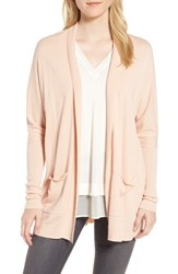 Trouve Open Front Cardigan Pink Hero