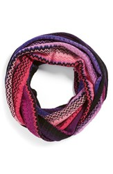 Women's Missoni Stripe Infinity Scarf Purple Purple Pink