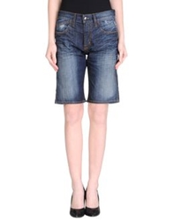Gold Case Denim Bermudas Blue