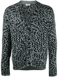 Saint Laurent Comics Cardigan Grey