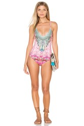 Camilla Cross Back Straps One Piece Pink