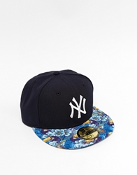 New Era 59Fifty Ny Snapback Cap With Tropical Visor Blue