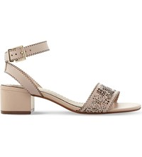 Dune Immie Laser Cut Leather Sandals Pink