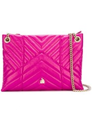 Lanvin 'Sugar' Quilted Shoulder Bag Pink Purple