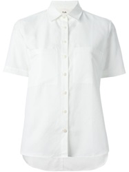 Folk Short Sleeve Shirt White