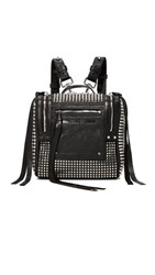 Mcq By Alexander Mcqueen Stud Mini Convertible Box Backpack Black
