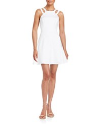 French Connection Halter Fit And Flare Dress Summer White