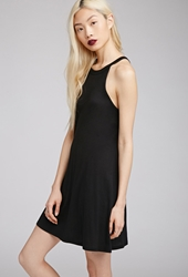 Forever 21 Jersey Knit Trapeze Dress Black