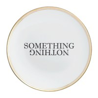 Bitossi Funky Table Plate Something Nothing Black And White