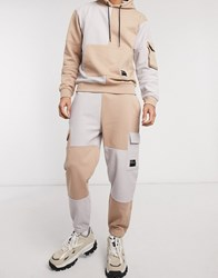 Mennace Co Ord Utility Patch Joggers In Tan