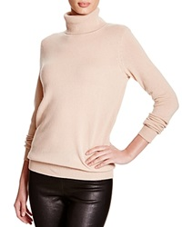 C By Bloomingdale's Turtleneck Cashmere Sweater Camel