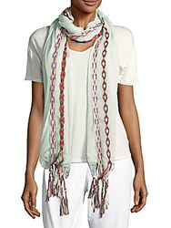 Marcus Adler Embroidered Scarf Mint