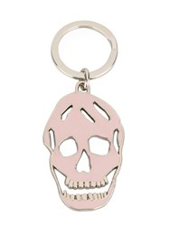 Alexander Mcqueen Skull Keyring Pink And Purple