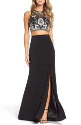Xscape Evenings Women's Embellished Two Piece Gown