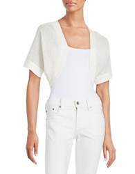 Tracy Reese Open Front Shrug White