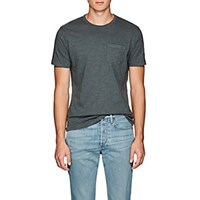 Barneys New York Brushed Cotton Jersey T Shirt Olive