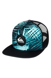 Quiksilver Quicksilver Faded Out Trucker Hat Blue Cyan Blue