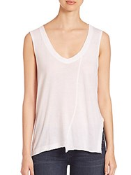 Rta Sid Cotton And Cashmere Asymmetrical Tank Blank
