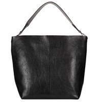 John Lewis Kin By Fia Leather Hobo Bag Black