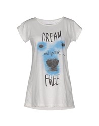 Mary Cotton Couture Topwear T Shirts Women Ivory