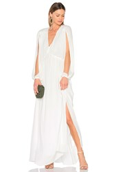 Erin Fetherston Lotus Queen Maxi Dress White