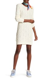 Volcom Chained Down Cable Sweater Dress White