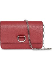 Burberry The Mini Leather D Ring Bag Red