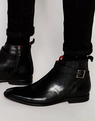 Base London Albert Leather Jodphur Boots Black