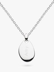 Kit Heath Personalised Sterling Silver Coast Small Pebble Necklace Silver