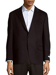 Hickey Freeman Solid Cashmere Jacket Navy
