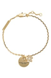 Marc Jacobs Women's Mj Coin Charm Bracelet Gold