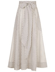 Lisa Marie Fernandez White Polka Dot Beach Skirt Multi