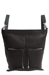 Allsaints Fetch Small Leather Backpack Black