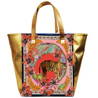 Jessica Russell Flint Tiger Tales Giant Beach Bag Vegan Leather Rose Gold