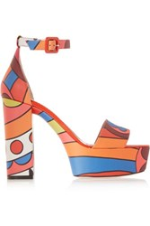 Red Valentino Redvalentino Printed Leather Sandals