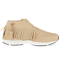 Buscemi Gladiator Fringed Leather Running Shoes Tan