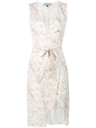 Murmur Fitted Wrap Dress Pink And Purple