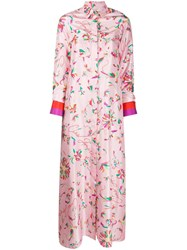 Giada Benincasa Floral Print Maxi Shirt Dress 60
