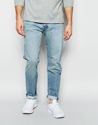 Levi's Jeans 501 Customized Tapered Fit Huxley Light Used Wash Blue